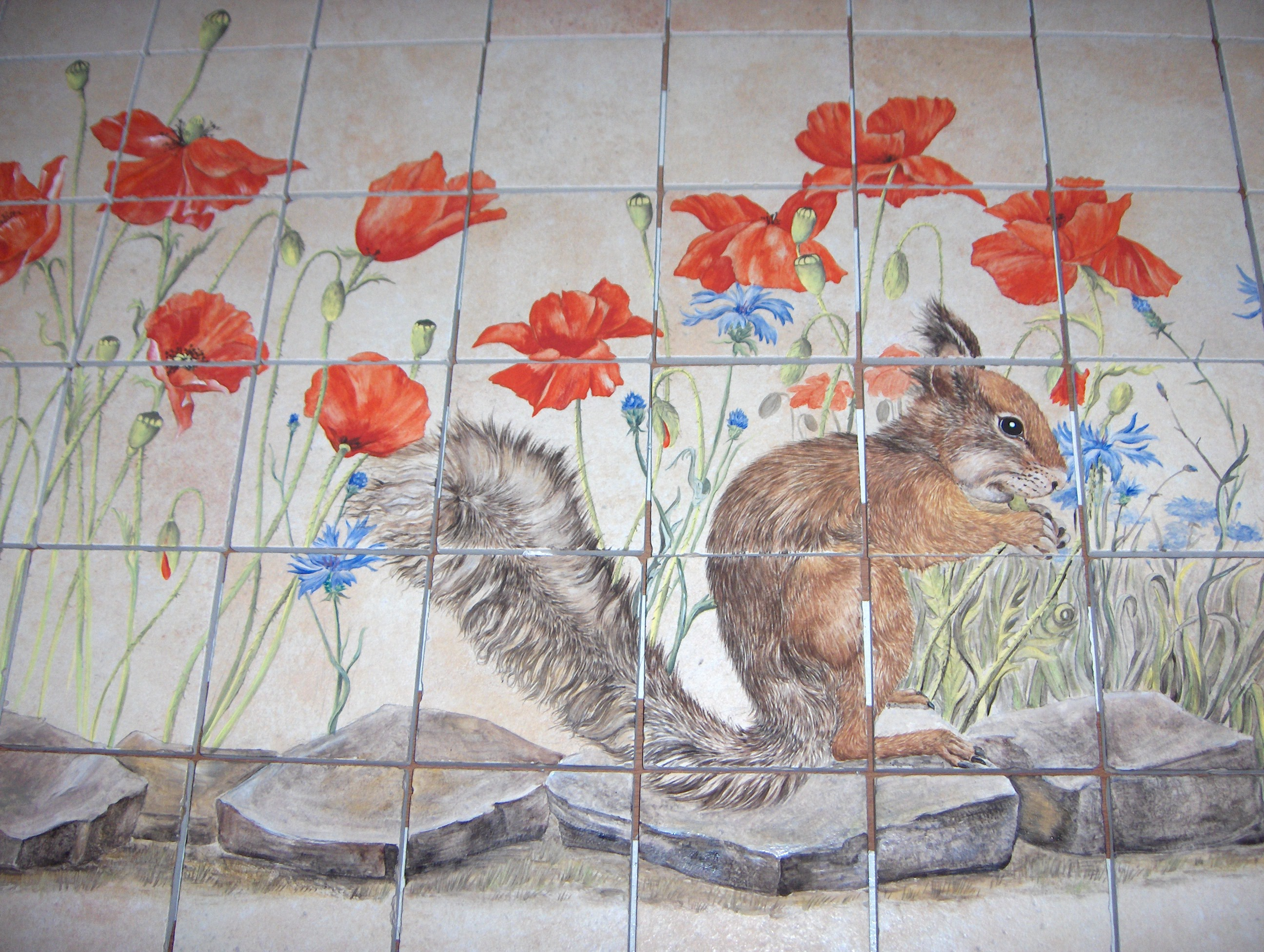 Kitchen Mural Maryline Garbe Hand Painted Tiles For Kitchen And Bathroom